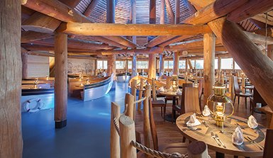 [Translate to en:] Hafenrestaurant Hotel Victory Therme Erding